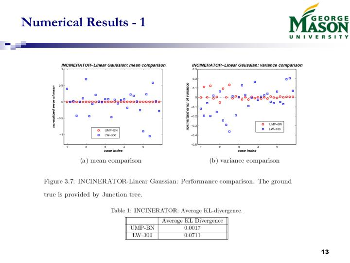 Numerical Results - 1