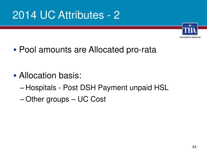 2014 UC Attributes - 2