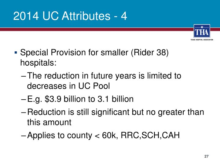 2014 UC Attributes -
