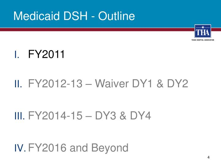 Medicaid DSH - Outline