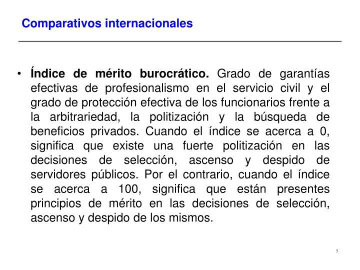 Comparativos internacionales