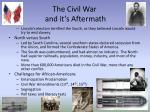 the civil war and it s aftermath