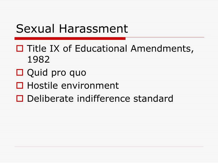 Deliberate Indifference To Hostile >> Ppt Student Rights Powerpoint Presentation Id 3733816