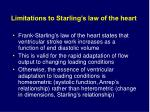 limitations to starling s law of the heart