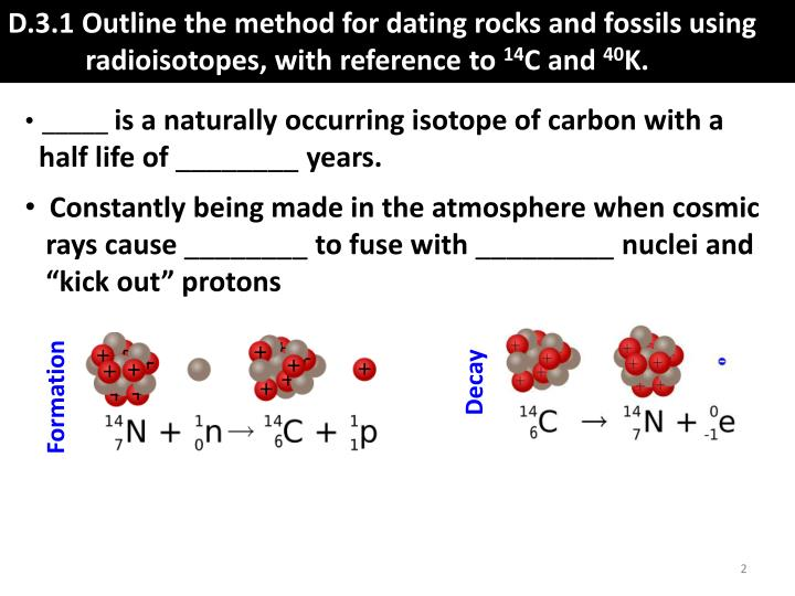D.3.1 outline the method for dating rocks