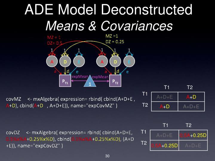 ADE Model Deconstructed