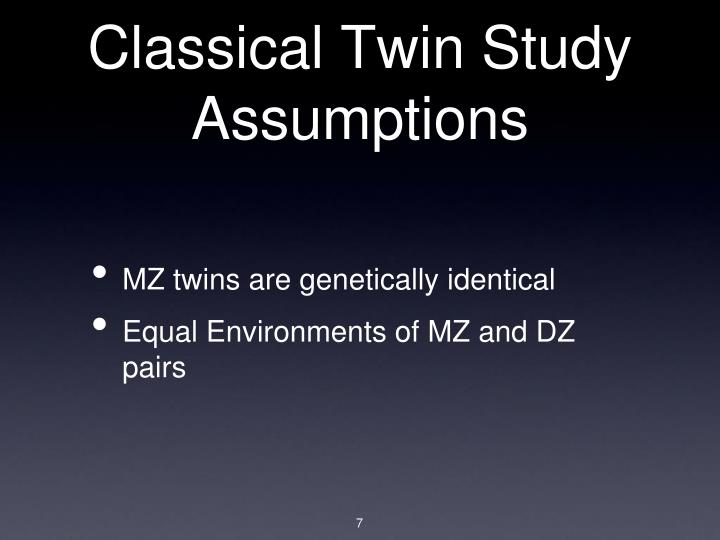 Classical Twin Study