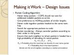 making it work design issues