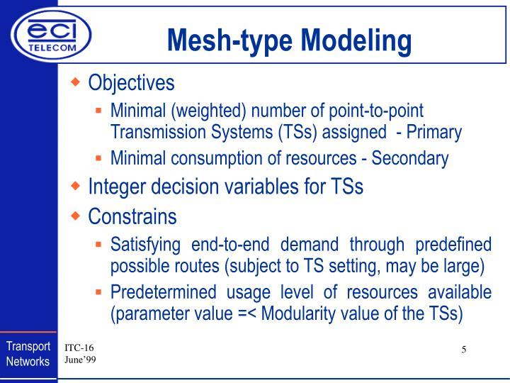 Mesh-type Modeling