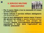 il servizio militare obbligatorio