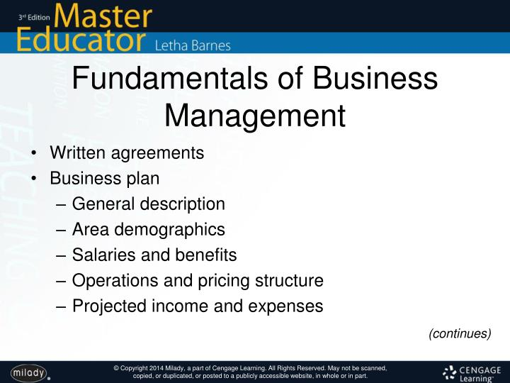 Fundamentals of Business Management