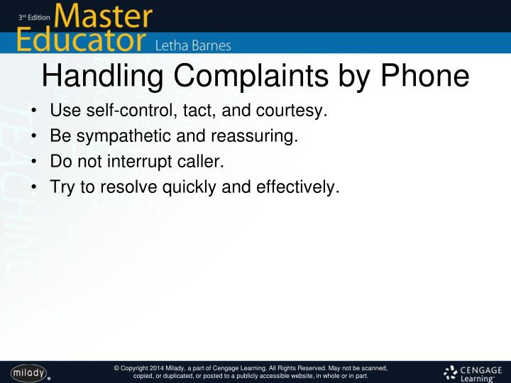 Handling Complaints by Phone