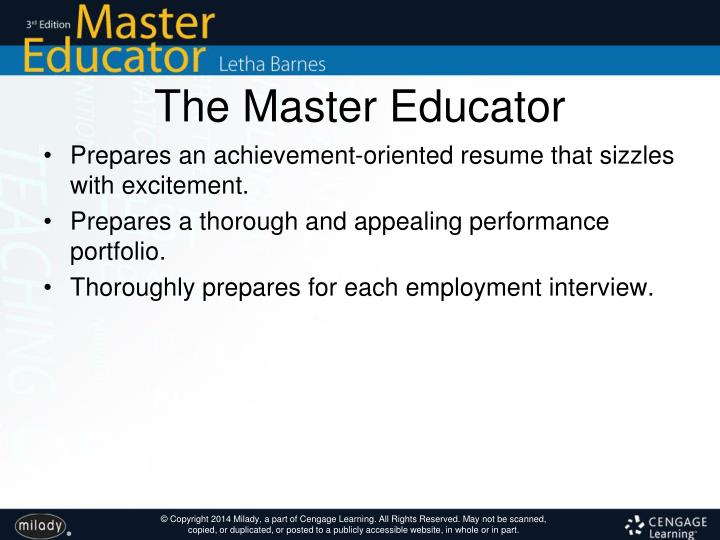 The Master Educator