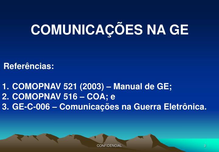 COMUNICAÇÕES NA GE
