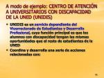 a modo de ejemplo centro de atenci n a universitarios con discapacidad de la uned unidis