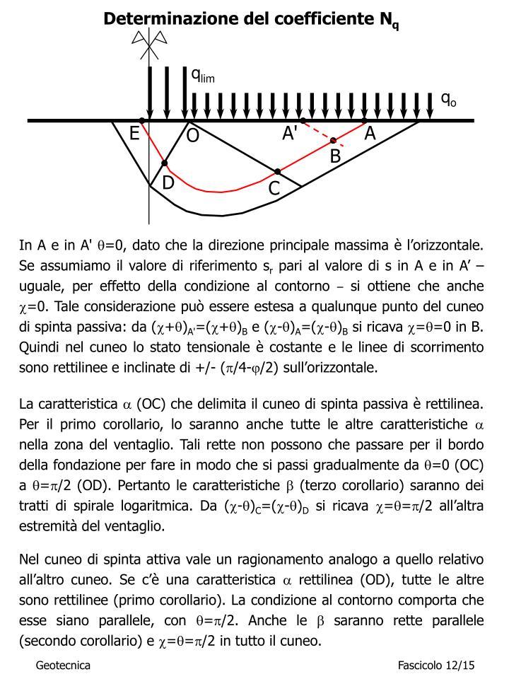 Determinazione del coefficiente N