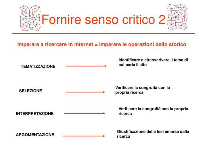 Fornire senso critico 2