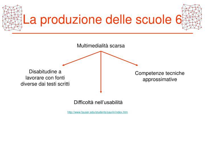 La produzione delle scuole 6