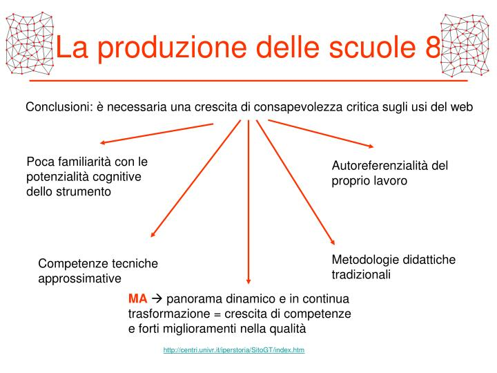 La produzione delle scuole 8