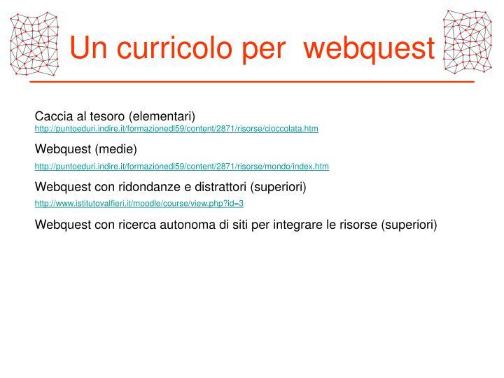 Un curricolo per  webquest