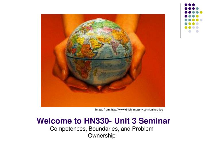 welcome to hn330 unit 3 seminar