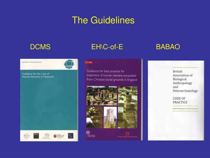 The guidelines dcms eh c of e babao