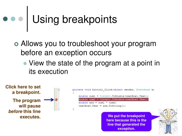 Using breakpoints