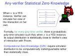 any verifier statistical zero knowledge