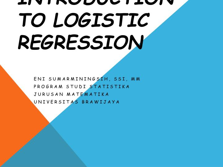 an introduction to logistic regression n.