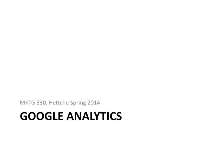 google analytics n.
