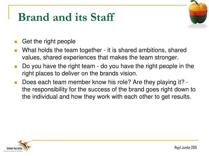 Brand and its Staff