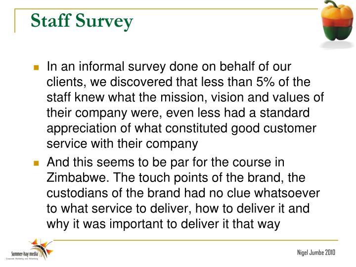 Staff Survey