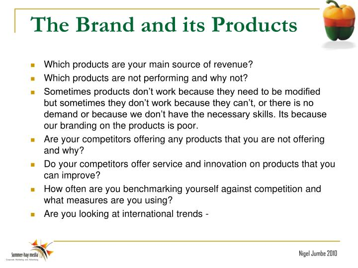 The Brand and its Products