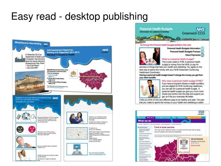 Easy read - desktop publishing