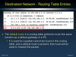 destination network routing table entries1