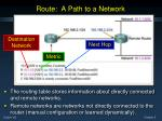route a path to a network