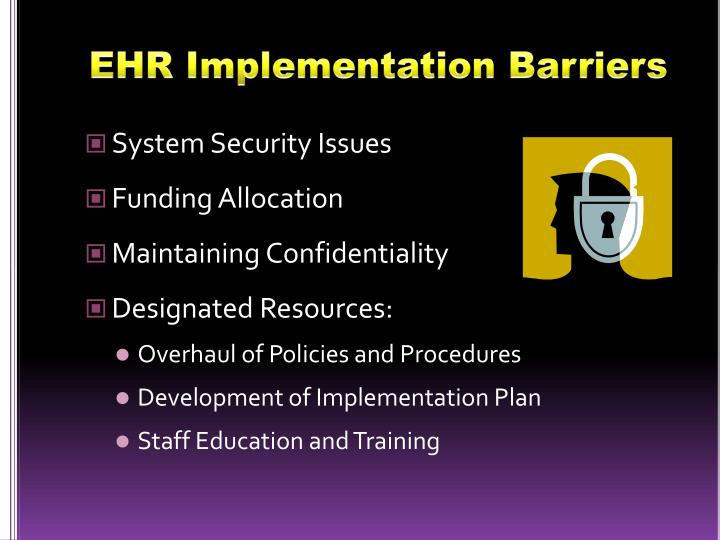 EHR Implementation Barriers