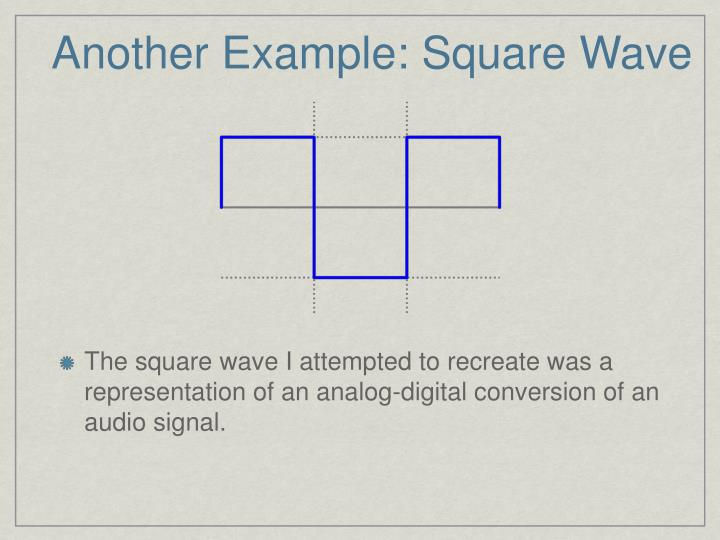 Another Example: Square Wave