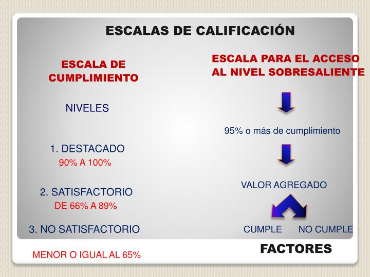 ESCALAS DE CALIFICACIÓN