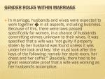 gender roles within marriage