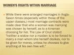 women s rights within marriage