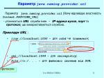 java naming provider url