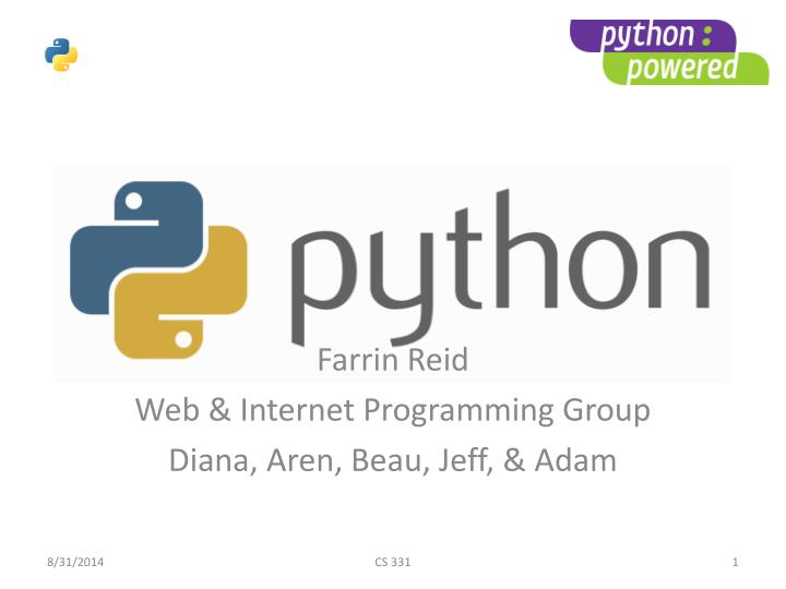 farrin reid web internet programming group diana aren beau jeff adam n.
