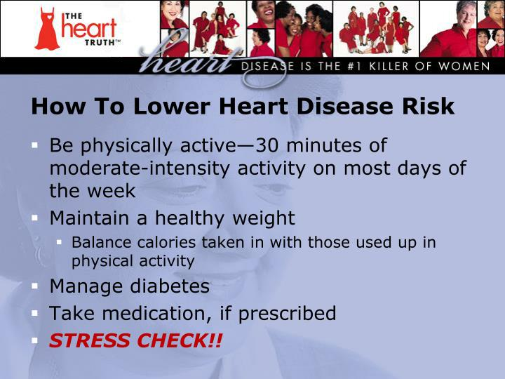 How To Lower Heart Disease Risk