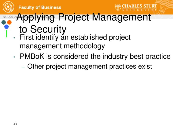 Applying Project Management