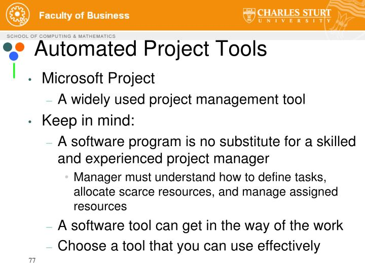 Automated Project Tools