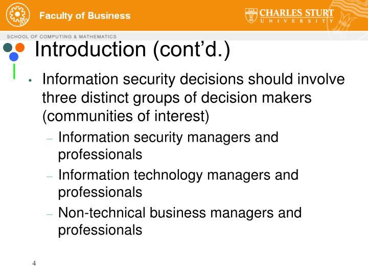 Introduction (cont'd.)