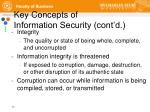 key concepts of information security cont d
