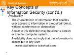 key concepts of information security cont d1