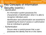 key concepts of information security cont d3